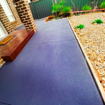 concrete garden path transformed with Charcoal coloured plain texture spray by Home Concrete Transformers