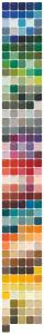 plain epoxy colour chart - custom colours
